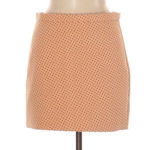 NWOT Zara Orange Polka Dot Mini Skirt